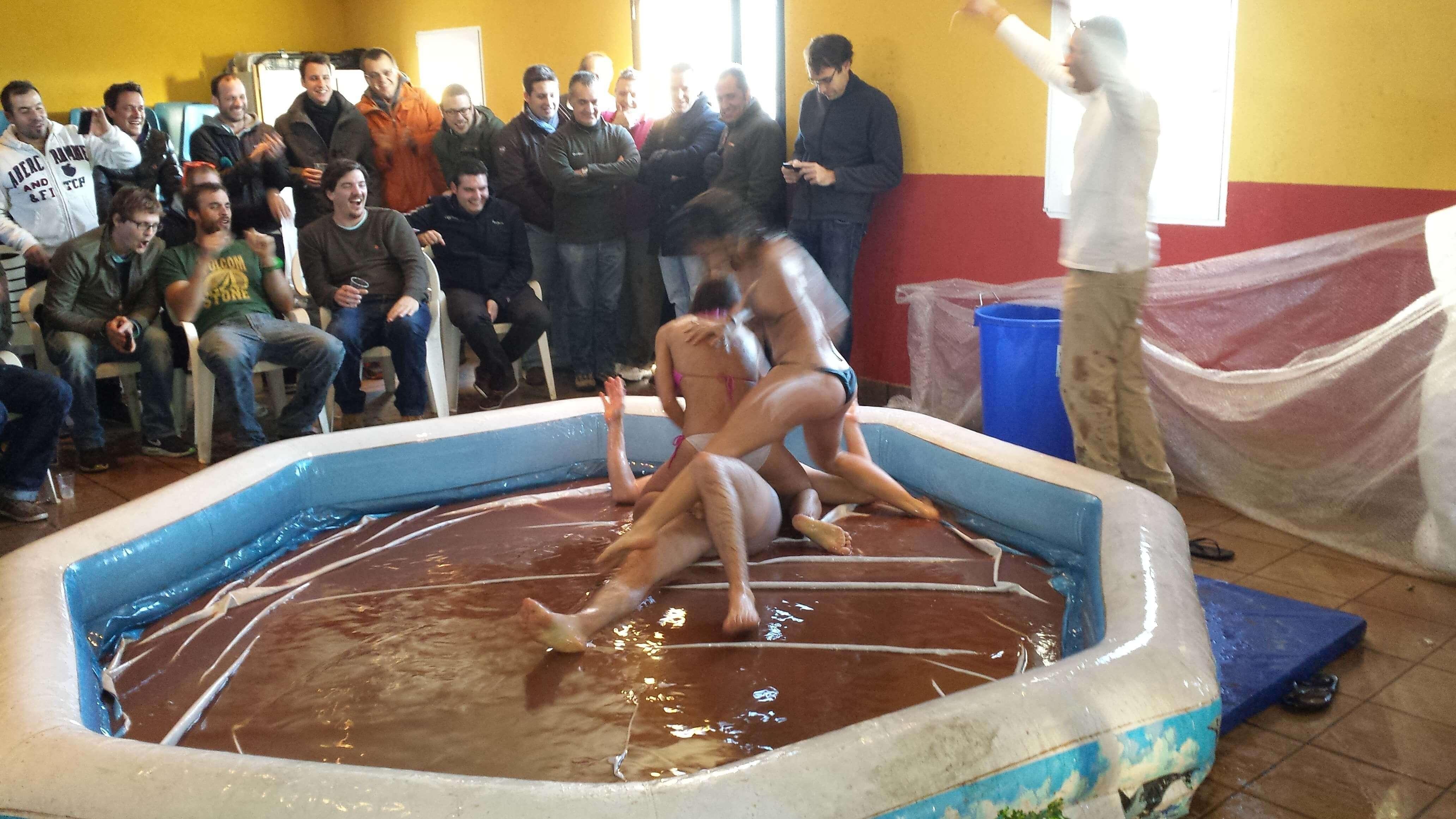 Madrid Mud Wrestling