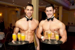 Champagne Breakfast with Butlers in the Buff
