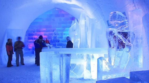 Ice bar in Madrid