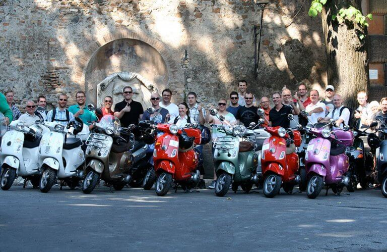Tour en scooter