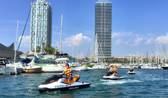 Jet Skiing at Barcelona Marina