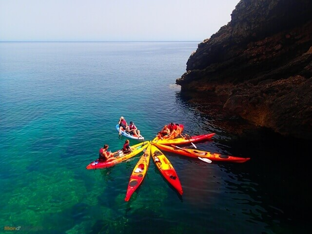 Magaluf Kayaking around the coast