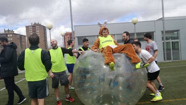 Bubble Football in Madrid